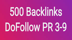 Get 500 Dofollow PR 3-9 Backlinks
