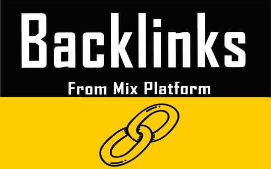 1000+ Mix Platform Of High Quality backlinks