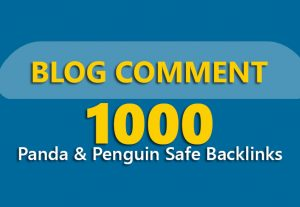 Submit 1,000 Panda & Penguin Safe Backlinks up to pr8 Blog Comments on Actual Page