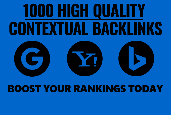 1000 Contextual backlink from social networks articles