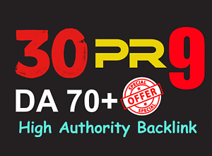 Provide you manually 30 PR9 - DA70 backlinks