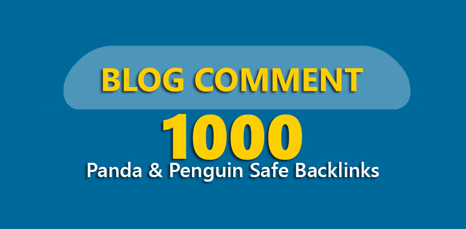 Creates 1,000 Panda & Penguin Safe Backlinks up to pr8 Blog Comments on Actual Page