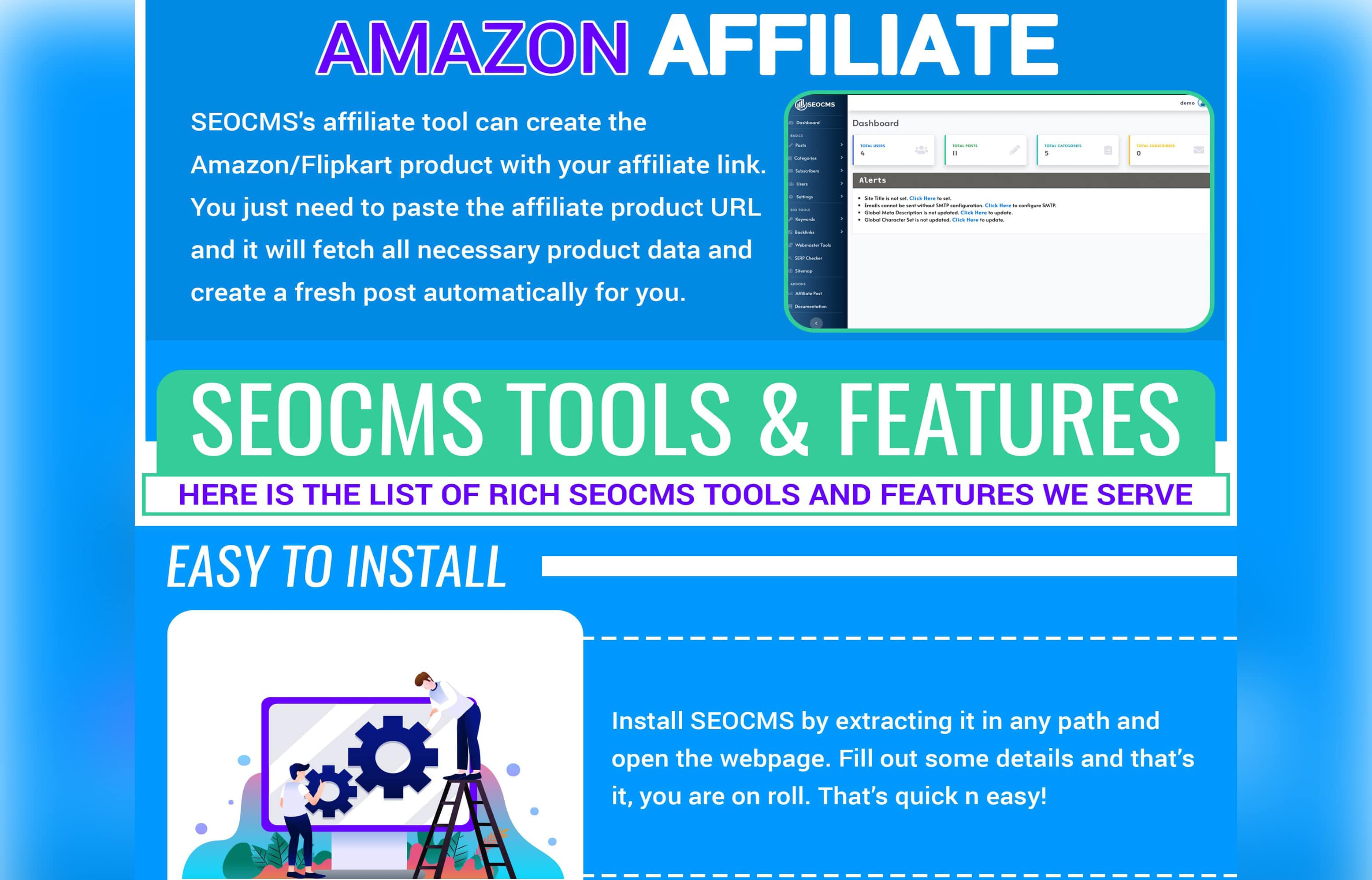 SEOCMS - All SEO Tools Integrated With Affiliate Scraper