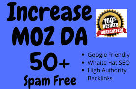 I will Increase your site Moz to DA 50+