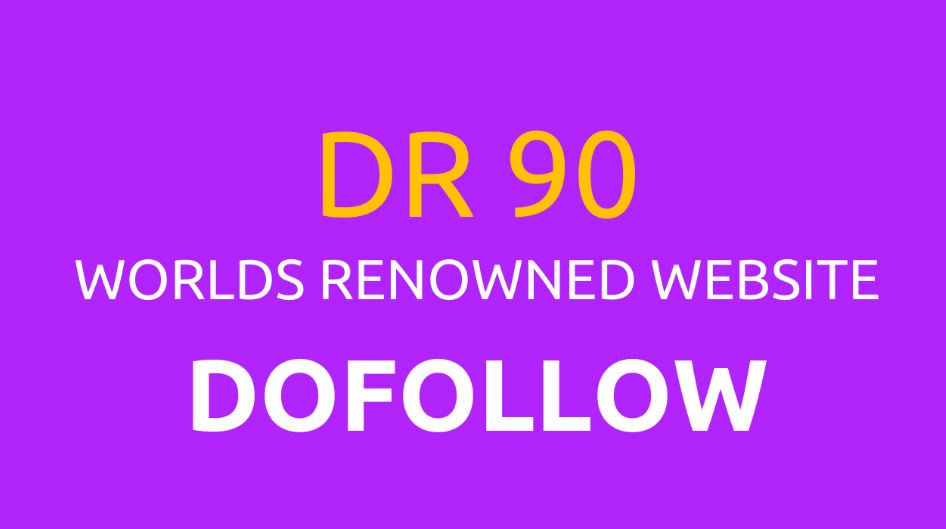 I will guest post seo backlink on DR 90 dofollow indexed premium website