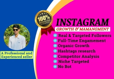 I will do instagram marketing and management for organic growth