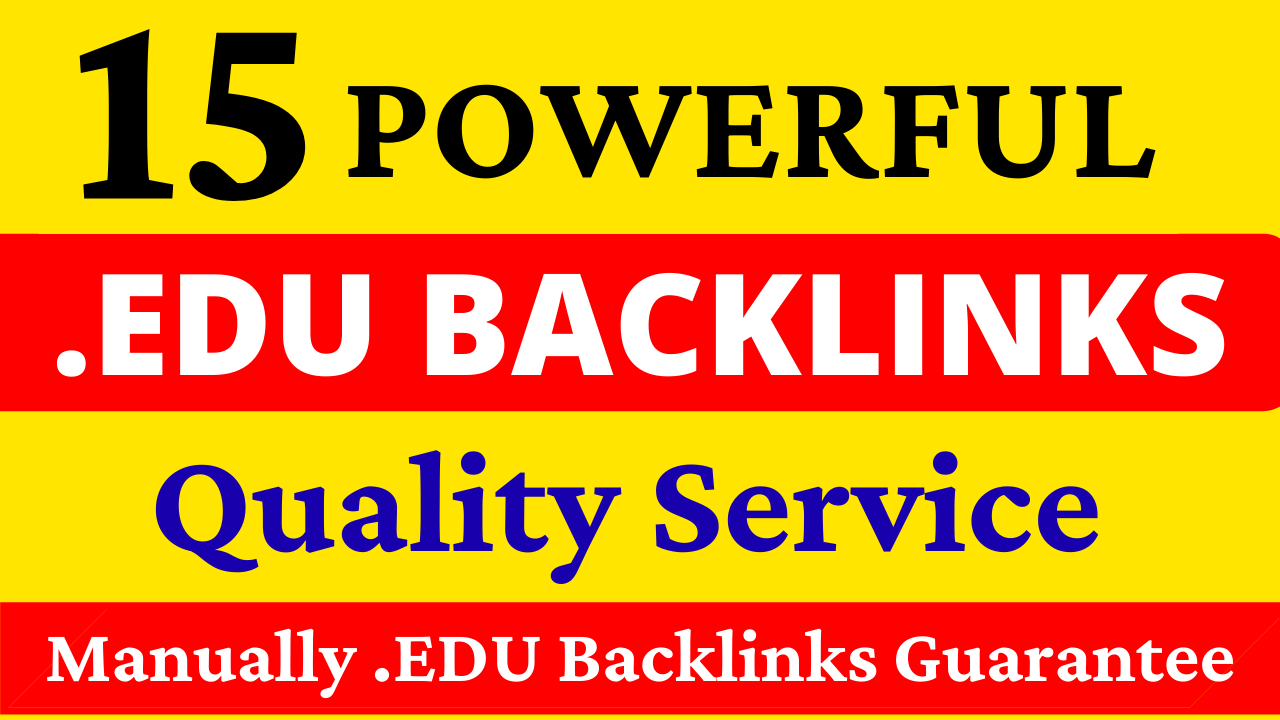 15 Powerful Profile. EDU Backlinks Manually Created from Top Rated Universities with Quick Delivery
