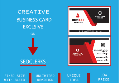 I will design unique business card for you within 24 hours