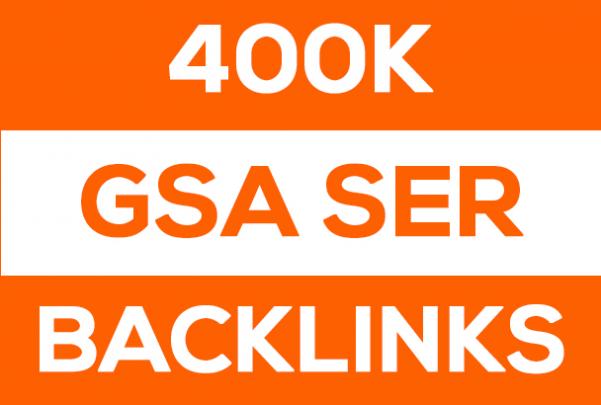400K GSA SER Backlinks Faster Index on Google