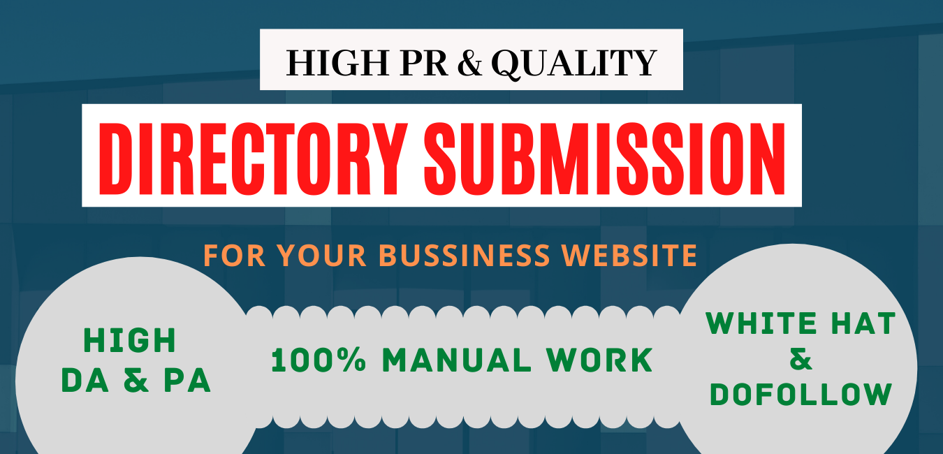100 high authority web directory submission manually