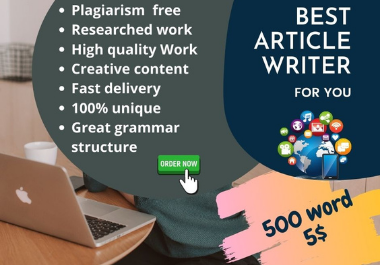 Will be your professional best SEO article writer