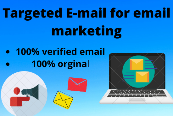 I will provide you 1000 targeted email list for your email marketing