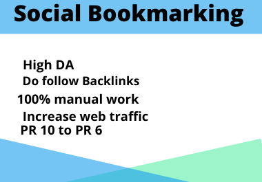 Do manually 50 Social Bookmarking Backlinks