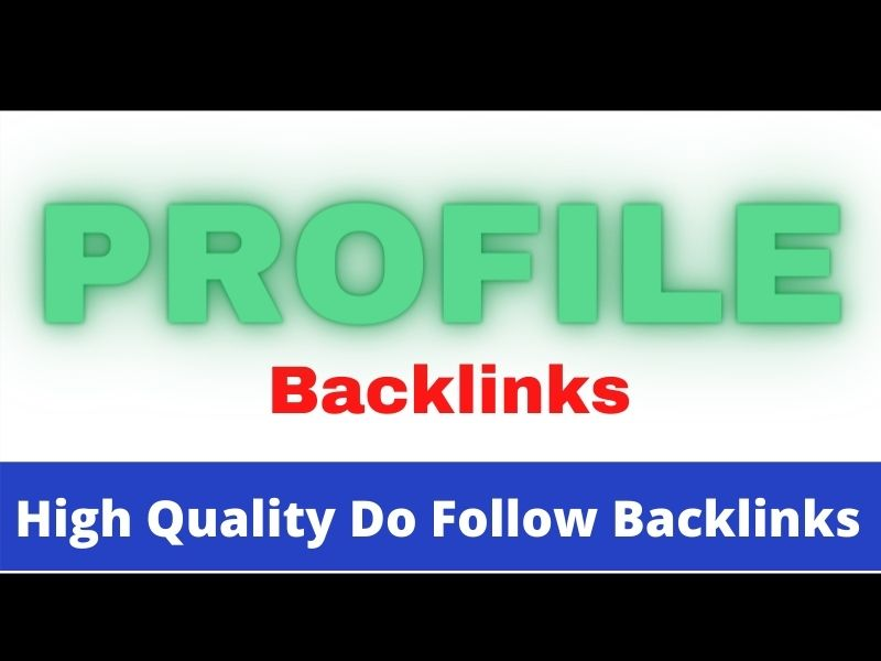 SEO Friendly high ranking100 profile backlink