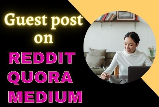 Guest post on Reddit Medium and Quara