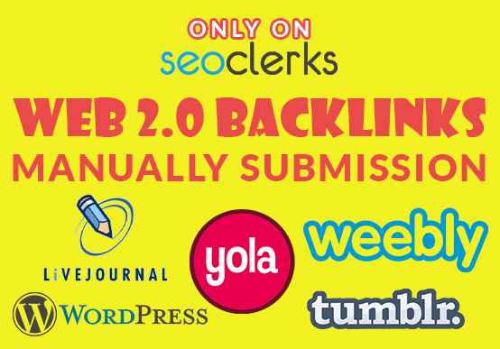 Create manually 25 HQ web 2.0 backlinks to Rank your website