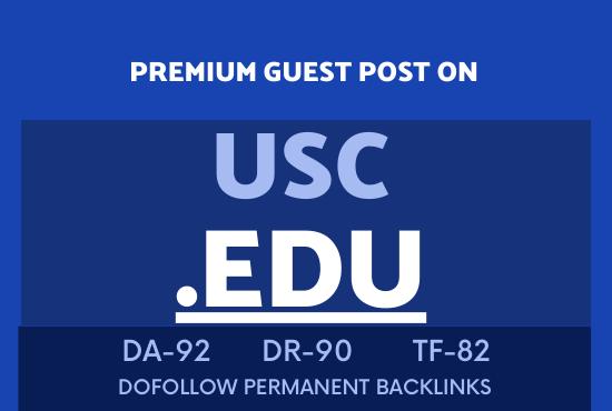I will publish guest post on Usc. Edu blog