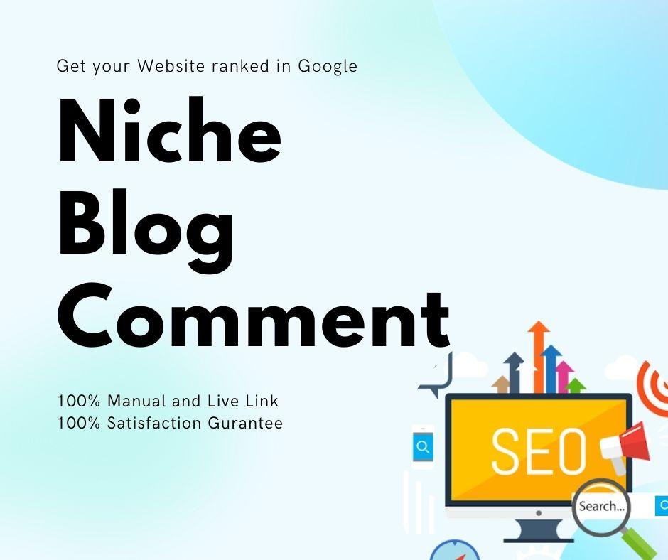 I will make 120 niche relevant blog comments backlinks