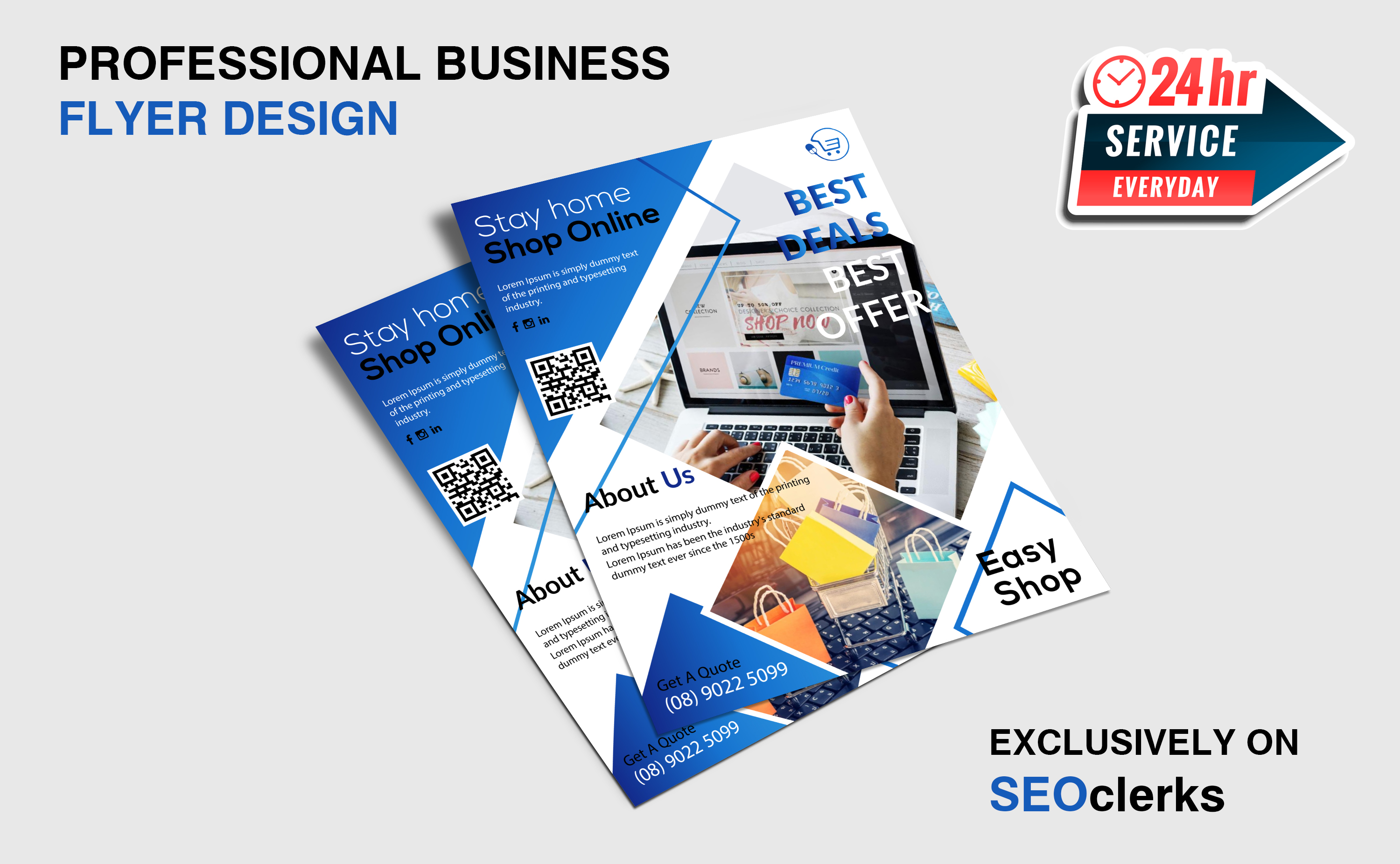 I will do professional,  corporate business flyer design