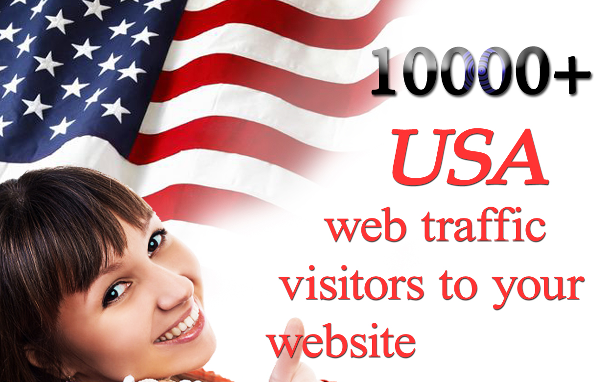 10000+ USA web traffic visitors to your website