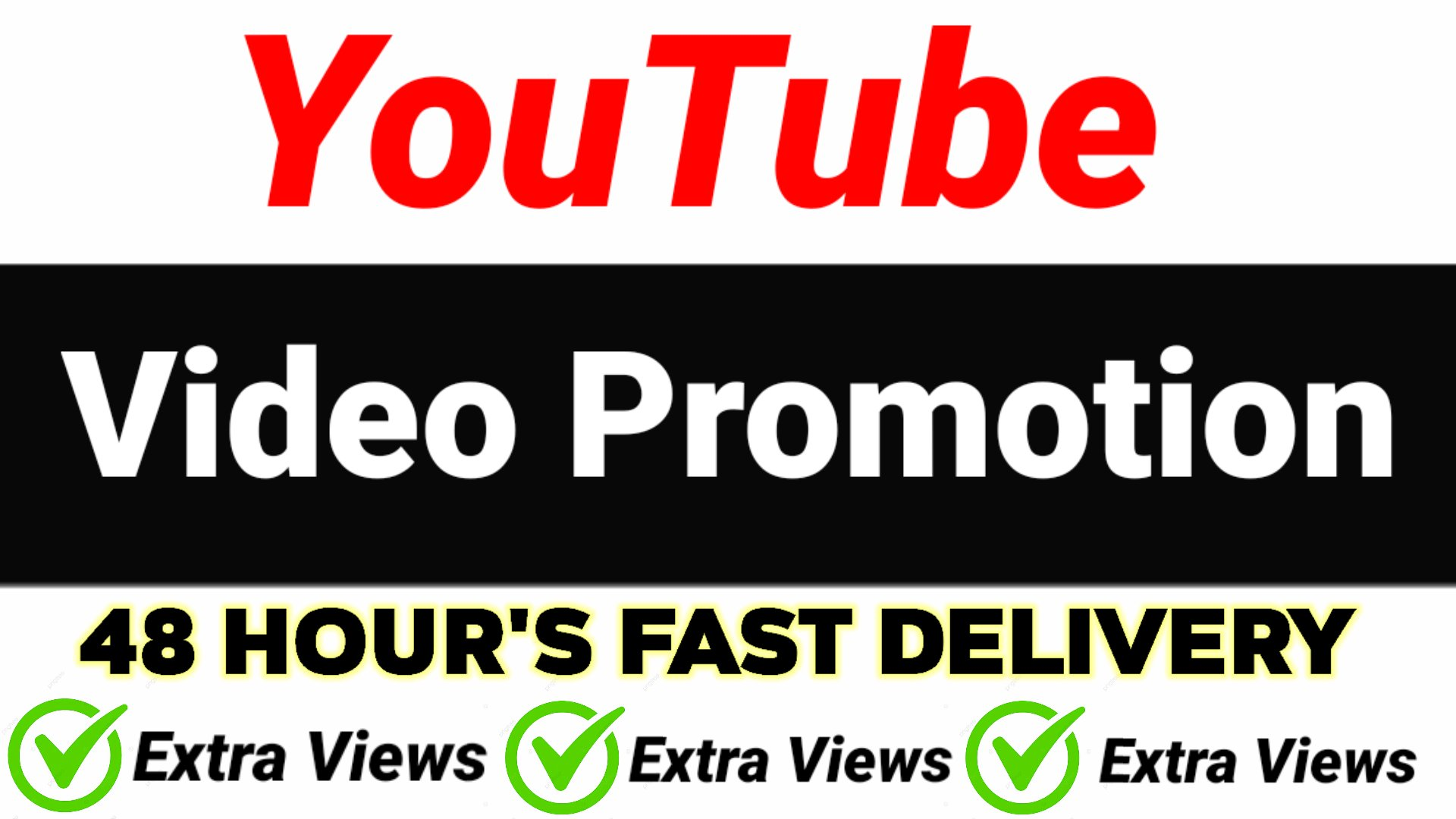YouTube video Promotion and Marketing & Social media 48 hours delivery