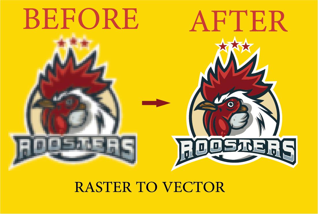 I will do vector tracing of logo using Adobe Illustrator