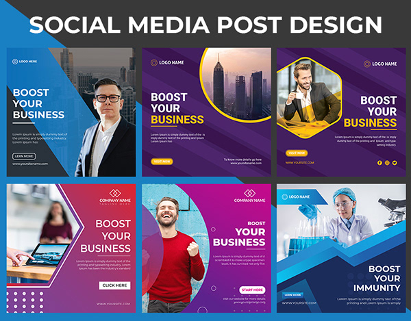 I will Design Social media post for your business or brand.