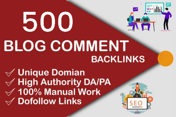 I will do 500 Unique Domains Blog Comments + 5 DR 40+ Homepage PBN Seo Backlinks on high DA PA