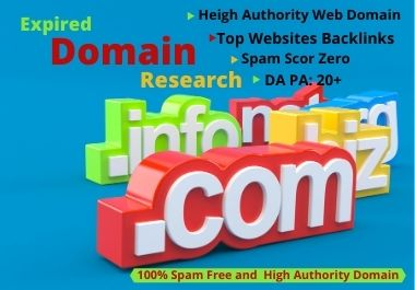 I will do expired domain research and find high authority expired domain