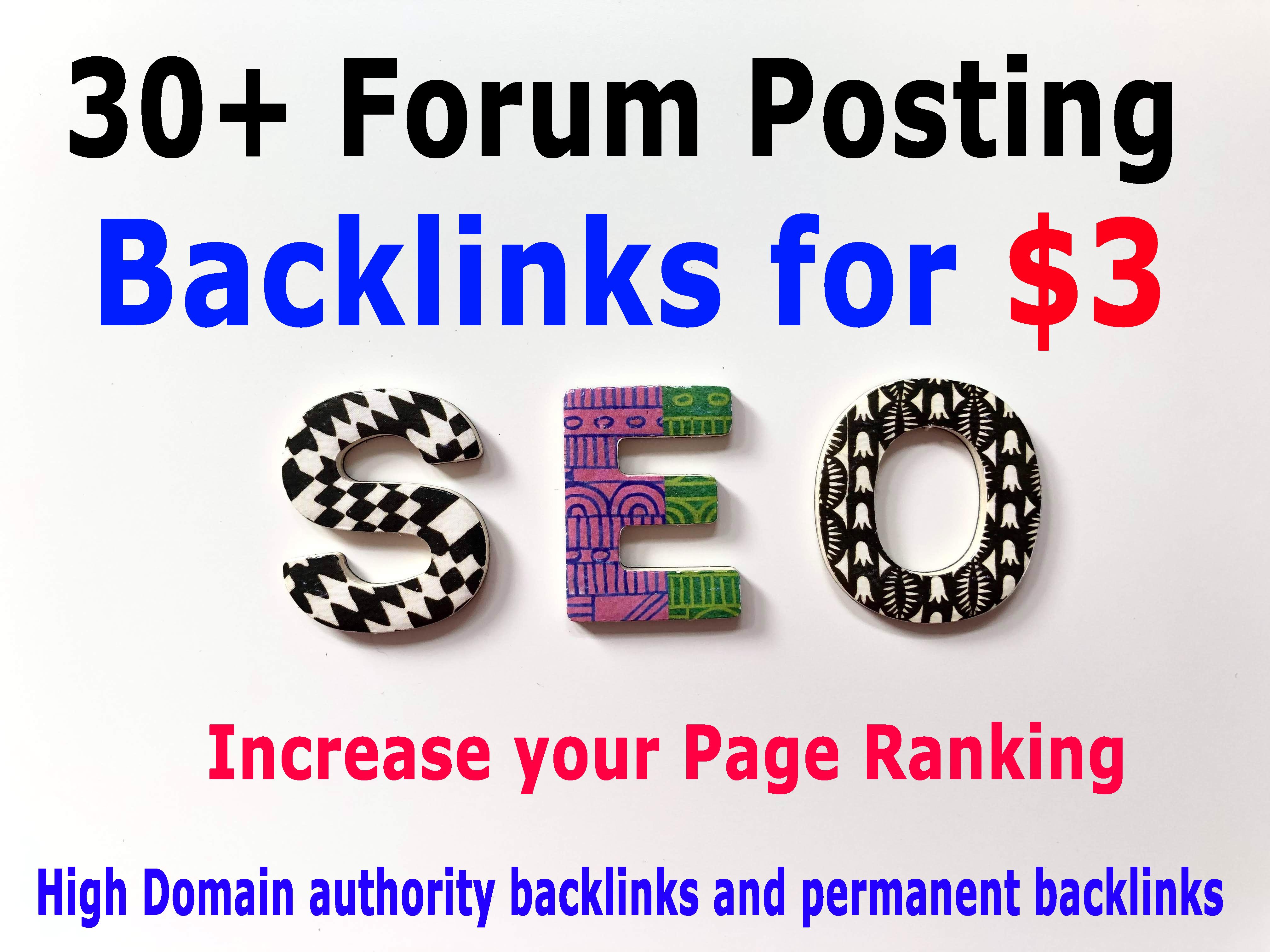 I will build 30+ quality forum posting backlinks