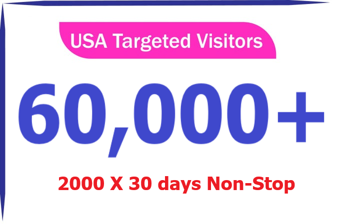 2000 Daily for 30 days Real Web Traffic USA and CANADA