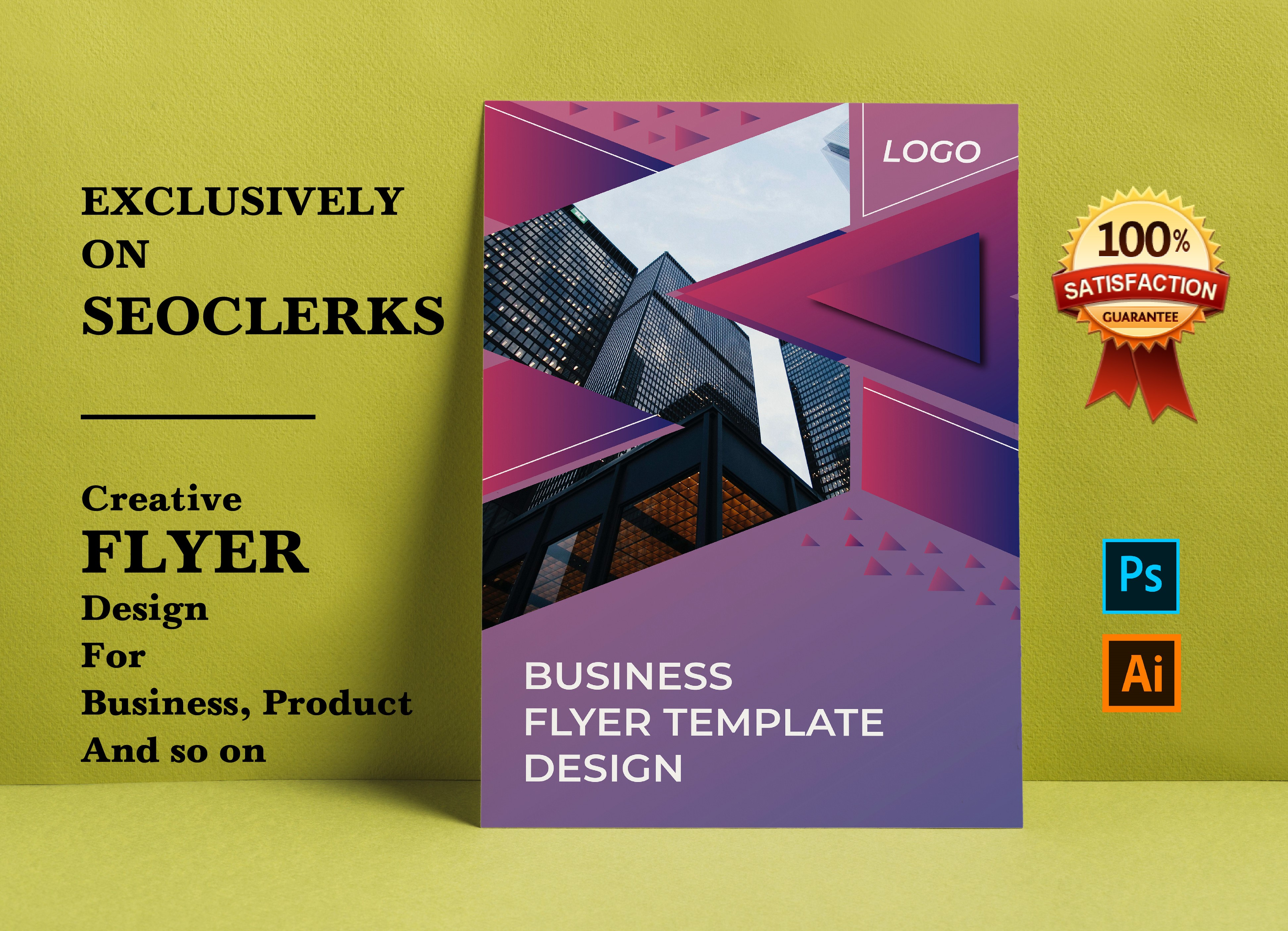 Professional flyer for business,  product,  food and so on
