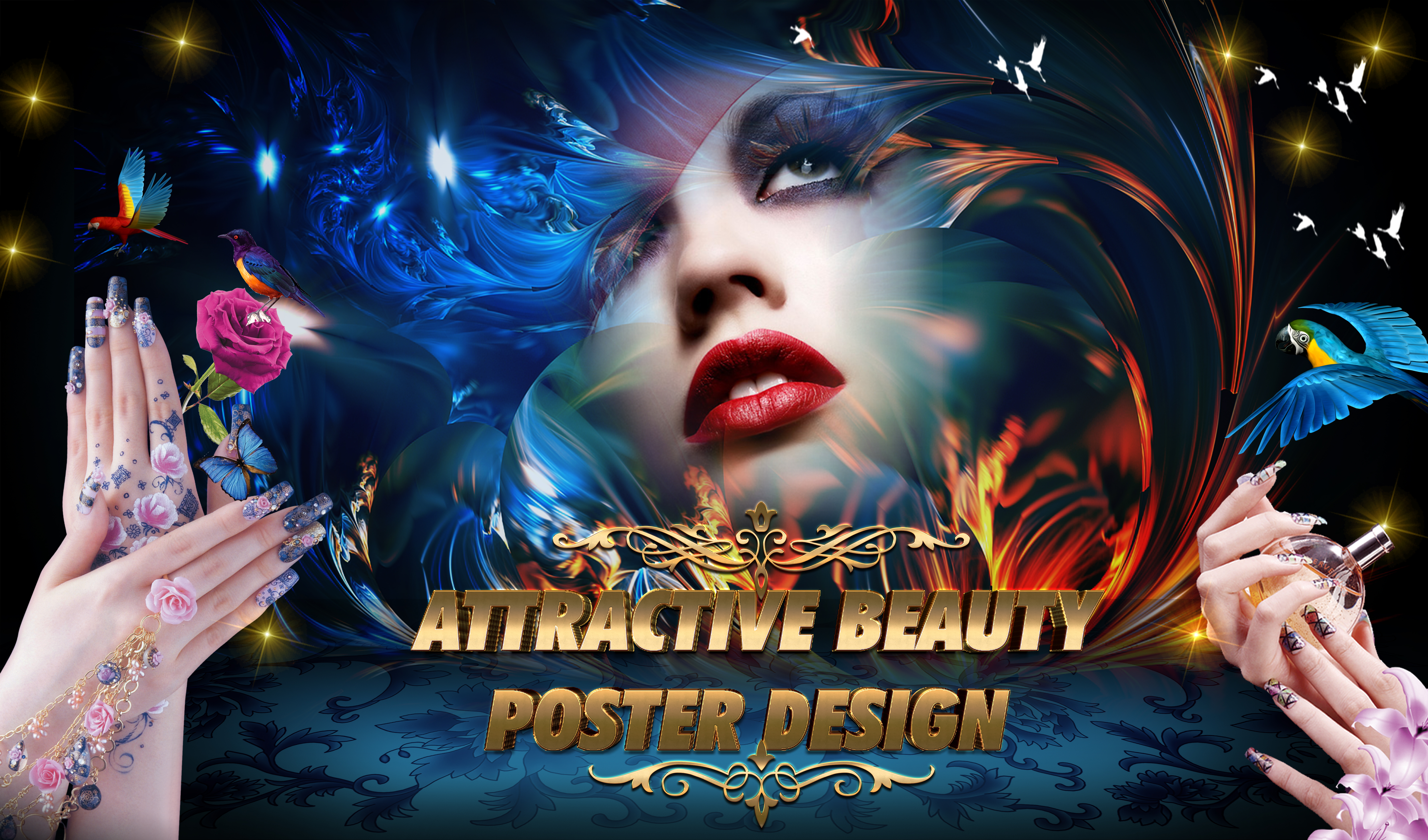 I will design attractive beauty poster and flyers