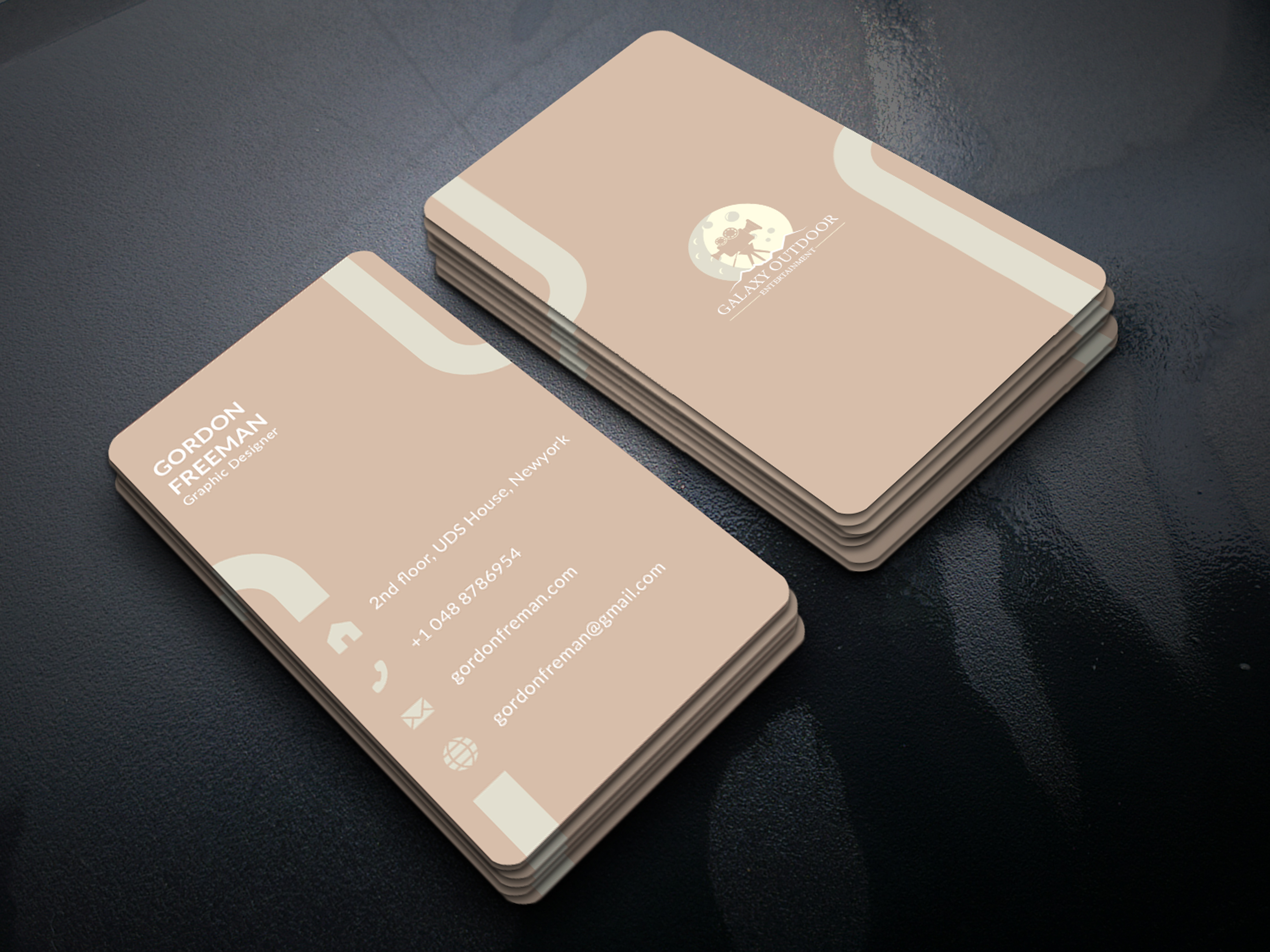 I will design modern professional luxury business card