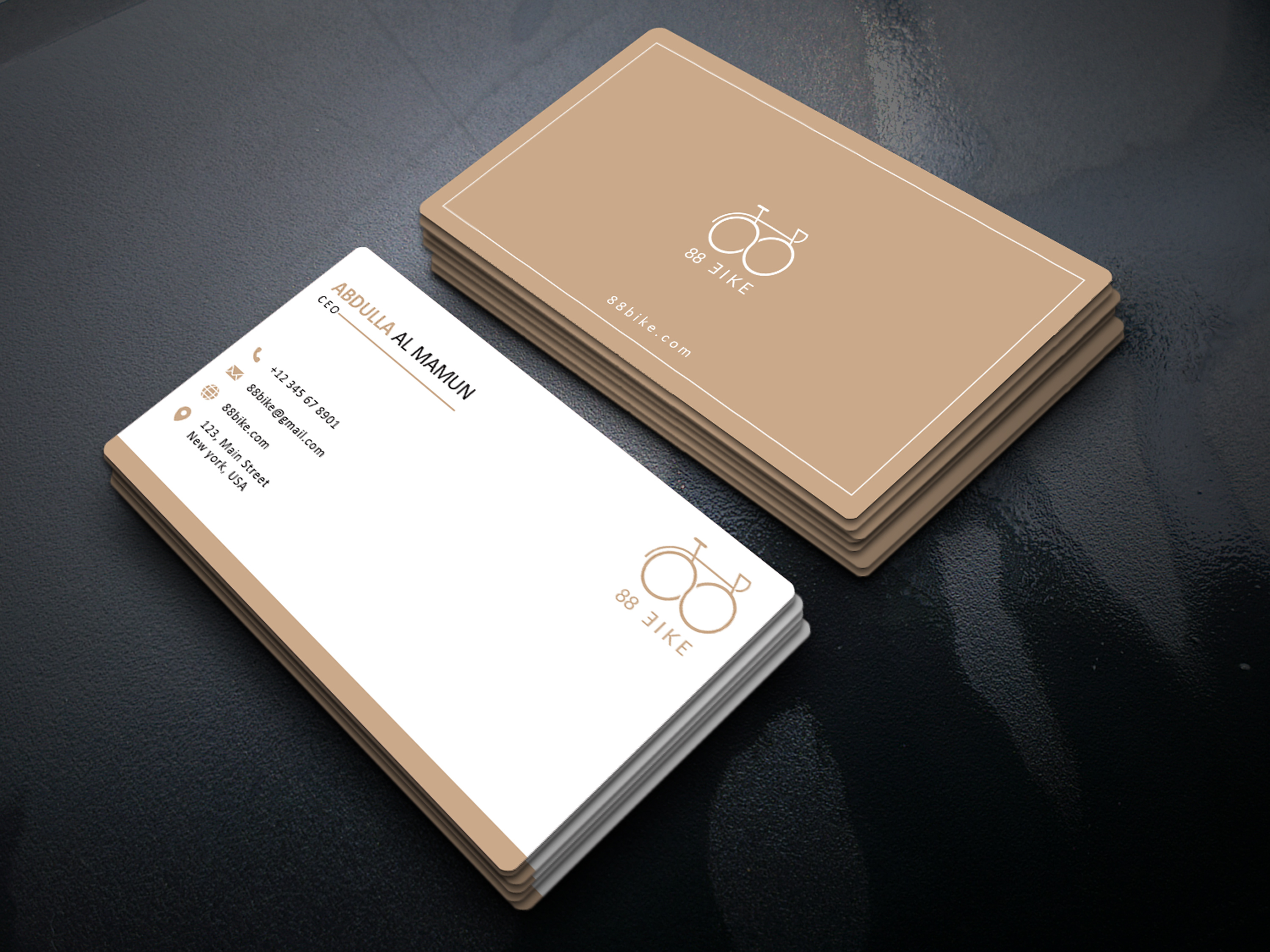 I will design modern luxury business card