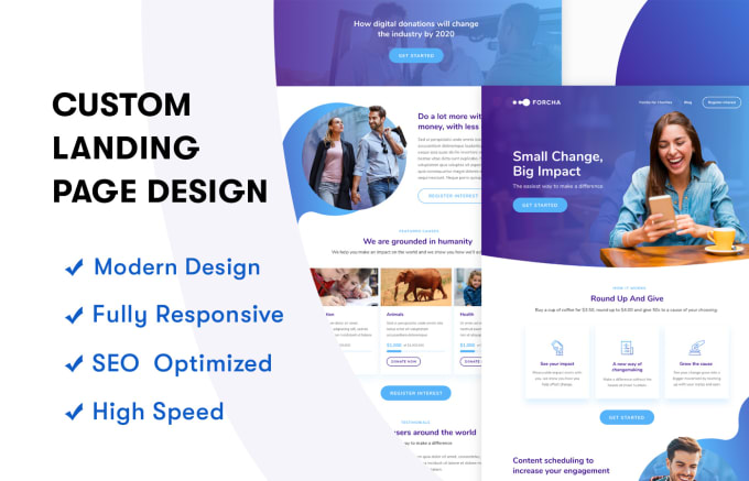 I will professionally design a wordpress landing page