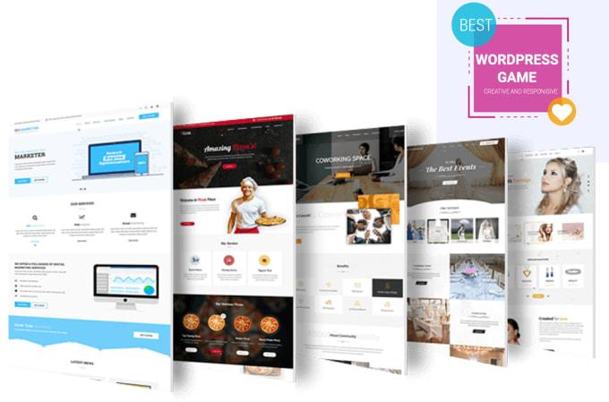 I will develop responsive and modern wordpress website