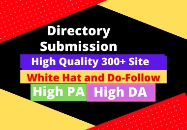 I will do 300+ directory submission and business listing links