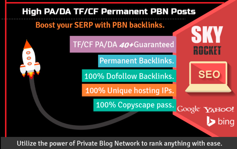 Create 5 High PA/DA TF/CF Homepage PBN Backlinks To Skyrocket you SERP/ To improve Your Google Ranki