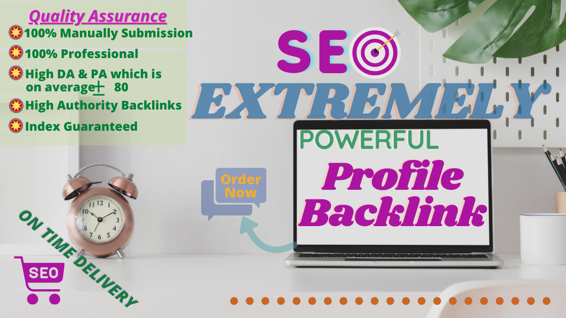 30 High Quality DA 70+ Social Profile Backlinks Manually for ranking