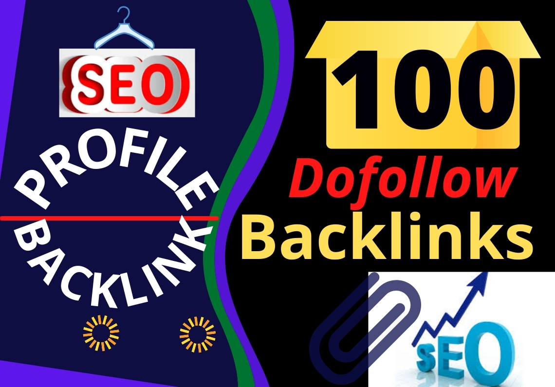 Manual 100 Unique HQ Dofollow High Authority Profile Backlinks