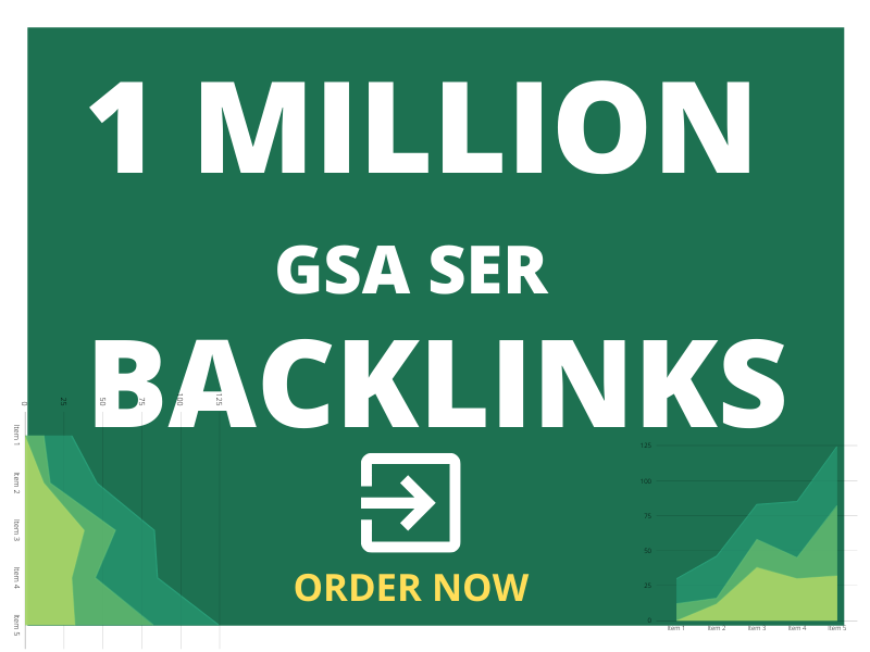 I will create 1 million high quality GSA ser seo backlinks for boost your website
