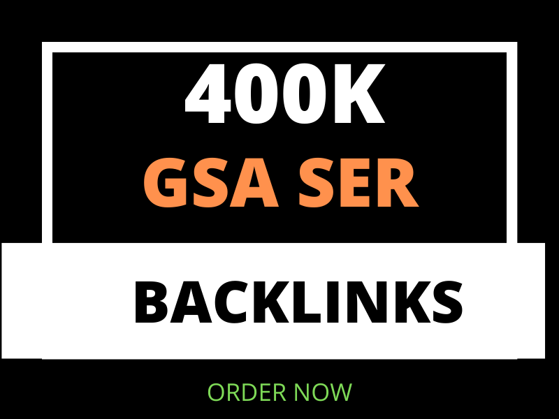 I will provide 400K GSA seo backlinks for faster index and increase link juice