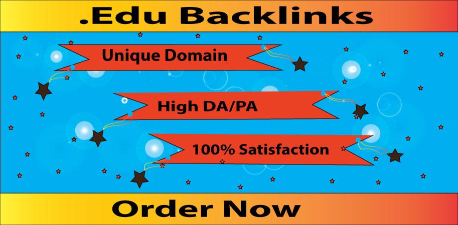 I will do 10+ Edu Gov High DA SEO Backlinks,  Link building