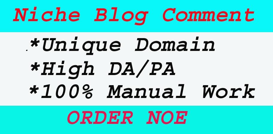 I will provide 60 + niche relevant manual dofoll0w blog comment backlinks