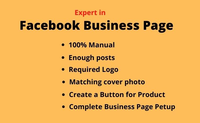 I will Create a Facebook Page for Professional Business