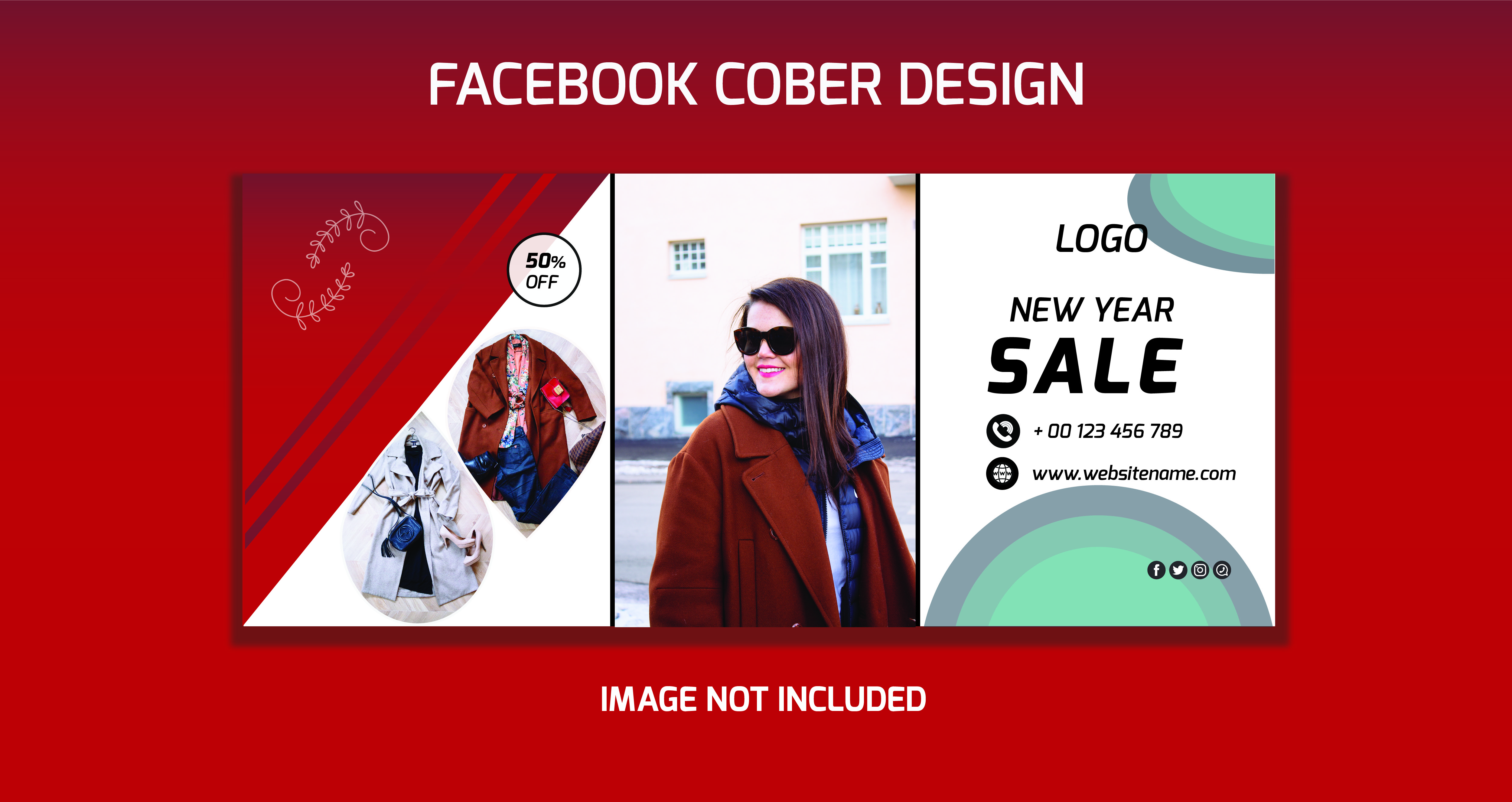 I will Create a professional Facebook Cover,  ads,  Business Card include social media post