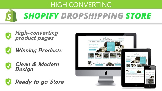 I will Create High Converting Shopify Dropshipping Store,  Shopify website