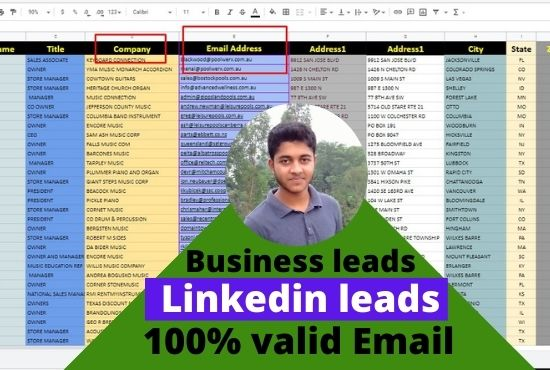 Targeted lead Generation and build a contact list by Using linkedin