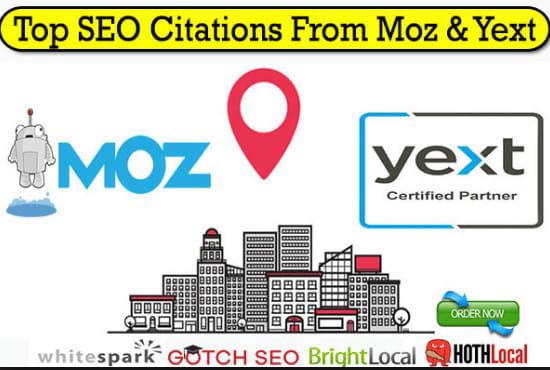 Do 50+ high da local citations manually for local SEO